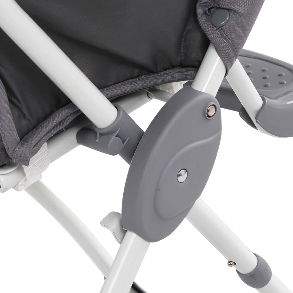 Scaun de masă înalt pentru copii, gri și alb