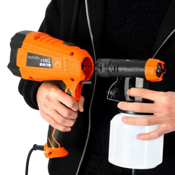 vidaXL Pistol electric de vopsit cu duze în 3 dimensiuni 500 W 800 ml