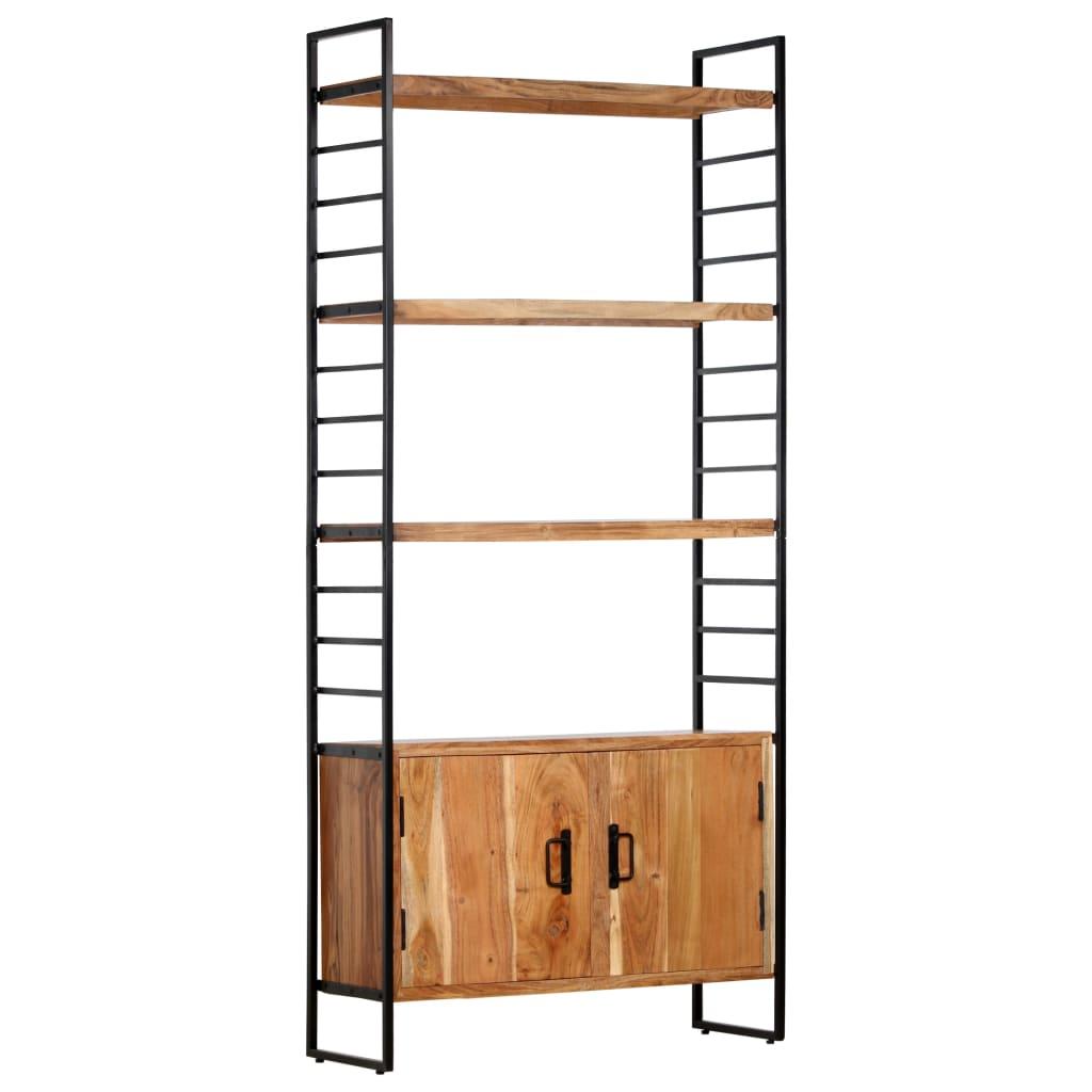vidaXL Bibliotecă cu 4 niveluri, 80x30x180 cm, lemn masiv de acacia