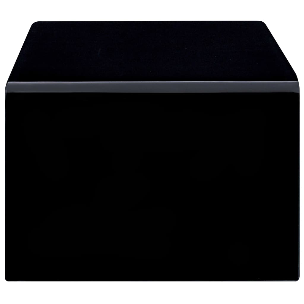 Măsuță de cafea, negru, 98 x 45 x 31 cm, sticlă securizată