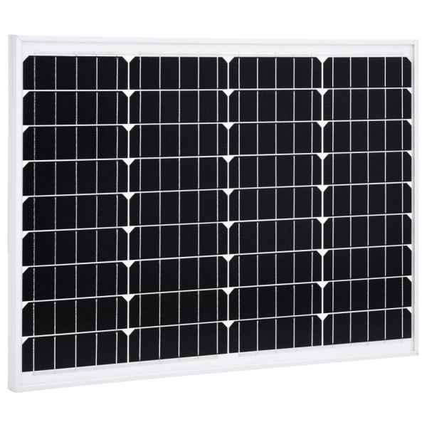vidaXL Panou solar 50 W, aluminiu monocristalin și sticlă securizată