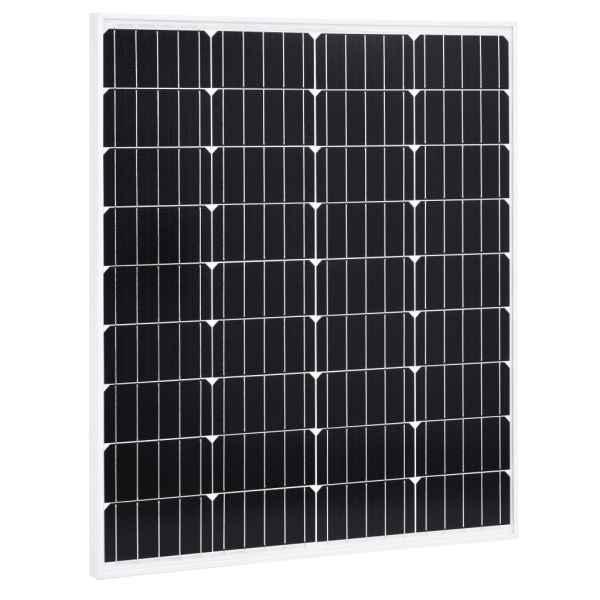 vidaXL Panou solar 80 W, aluminiu monocristalin și sticlă securizată
