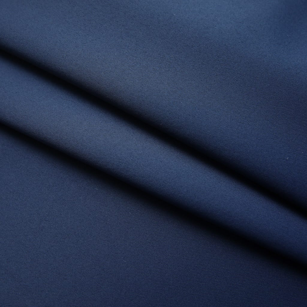 Draperii opace cu cârlige, 2 buc., albastru, 140 x 225 cm