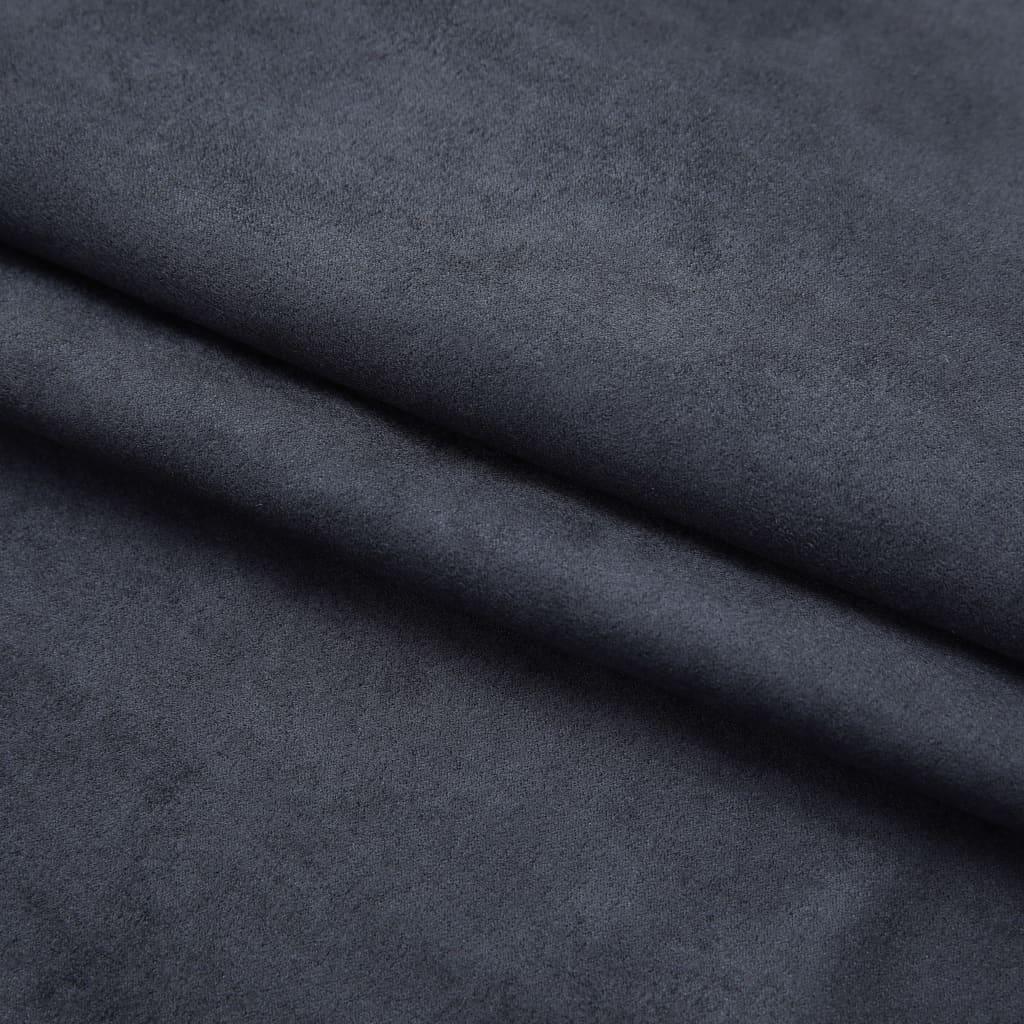 vidaXL Draperii opace cu cârlige, 2 buc., antracit, 140 x 225 cm