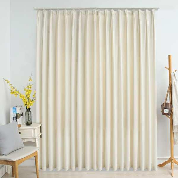 vidaXL Draperie opacă, crem, 290 x 245 cm, catifea, cu cârlige