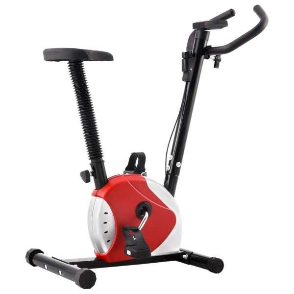 vidaXL Bicicletă de fitness cu curea de rezistență, roșu