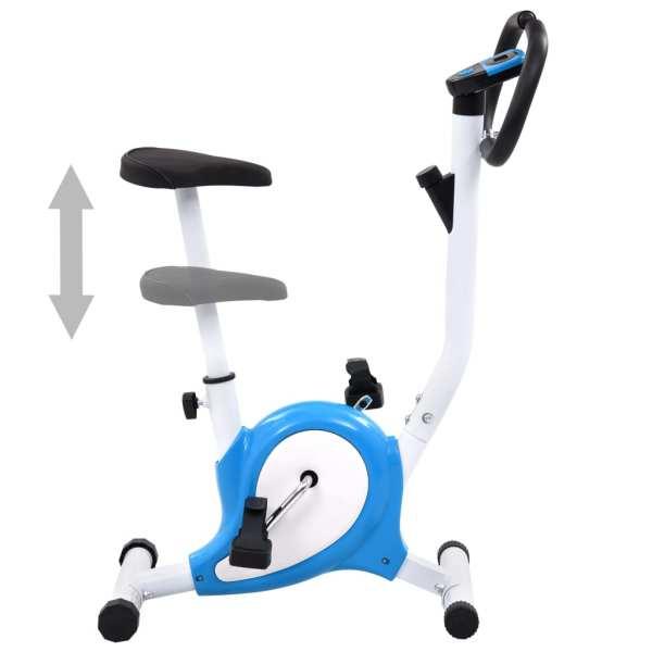 vidaXL Bicicletă fitness cu curea de rezistență, albastru