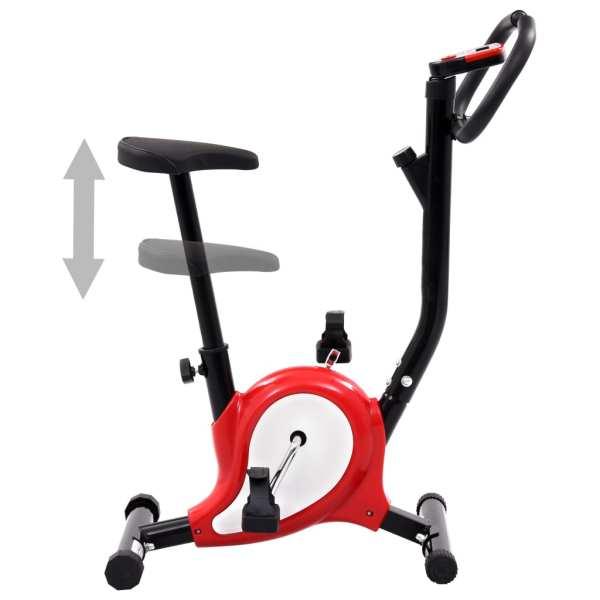 vidaXL Bicicletă fitness cu curea de rezistență, roșu