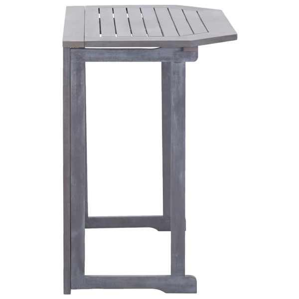 vidaXL Masă de balcon pliabilă, 90x50x74 cm, lemn masiv de acacia