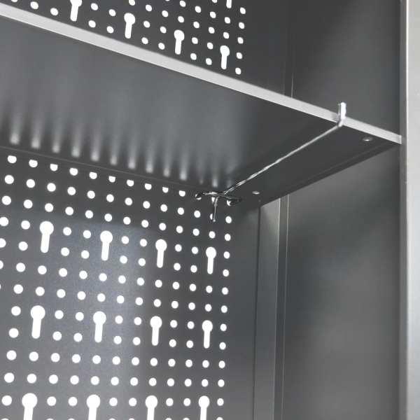 Dulap de perete pentru unelte gri & negru metal stil industrial