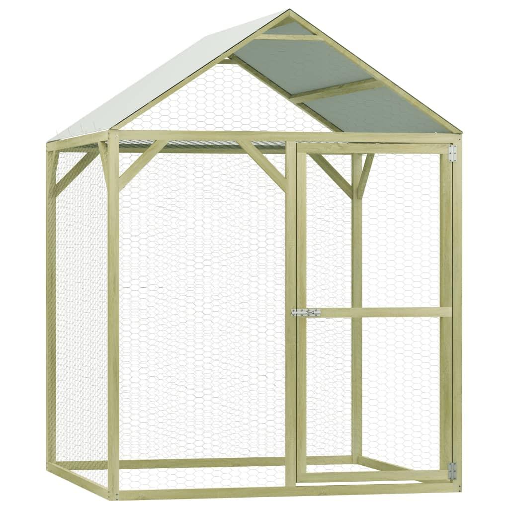 vidaXL Cușcă de pui, 1,5 x 1,5 x 2 m, lemn de pin tratat