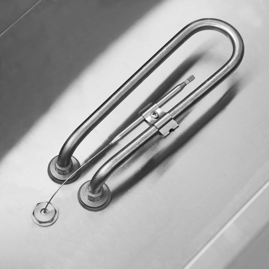 vidaXL Încălzitor alimente tip bain marie, 1500 W, oțel inoxidabil