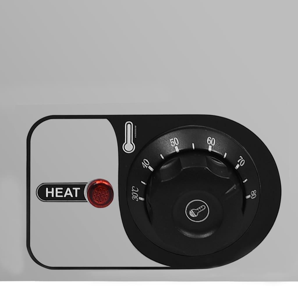 vidaXL Încălzitor alimente tip bain marie 1500W GN 1/4 oțel inoxidabil