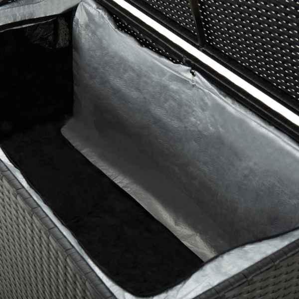 vidaXL Ladă de depozitare de grădină, negru, 100x50x50 cm, poliratan