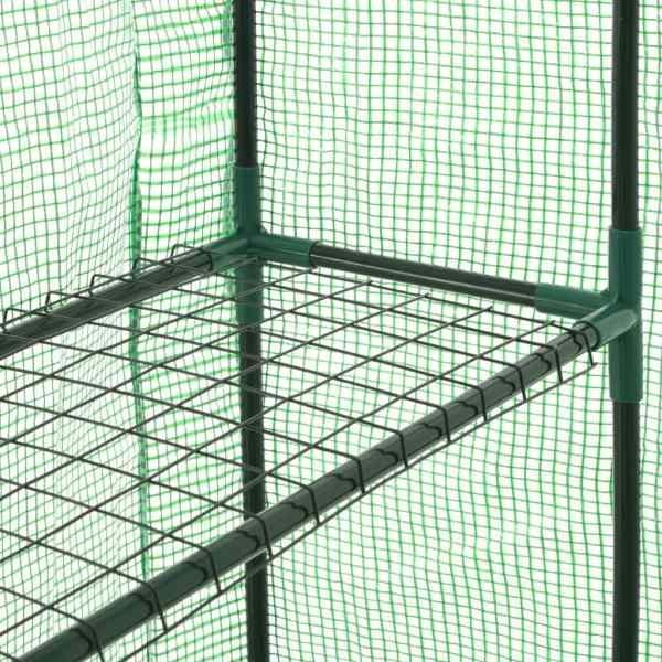 vidaXL Seră înaltă cu 12 rafturi, 143 x 214 x 196 cm, oțel