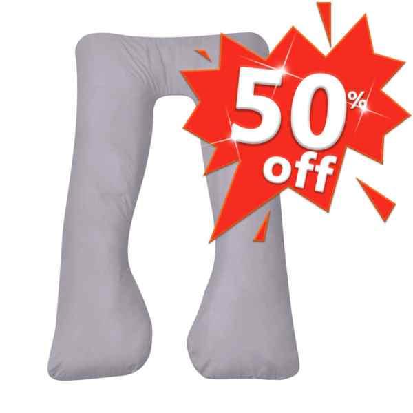 Husă de pernă pentru sarcină în formă de U, 90 x 145 cm