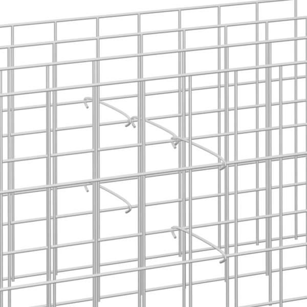 vidaXL Cârlige pentru gabioane, 50 buc., oțel galvanizat, 10 cm