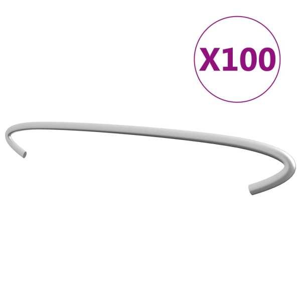 vidaXL Cârlige pentru gabioane, 100 buc., oțel galvanizat, 30 cm