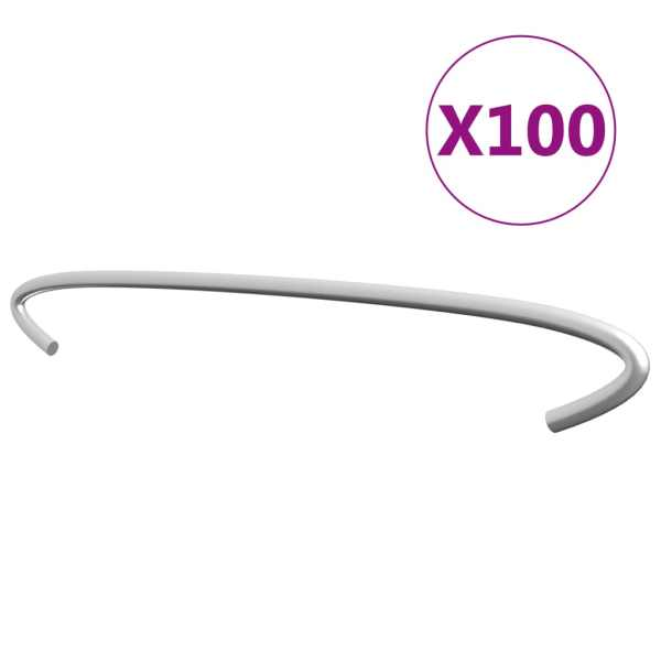 vidaXL Cârlige pentru gabioane, 100 buc., oțel galvanizat, 40 cm