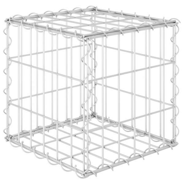 vidaXL Gabion cub strat înălțat, 30 x 30 x 30 cm, sârmă de oțel