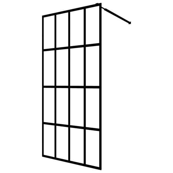 Paravan de duș walk-in, 118 x 190 cm, sticlă securizată
