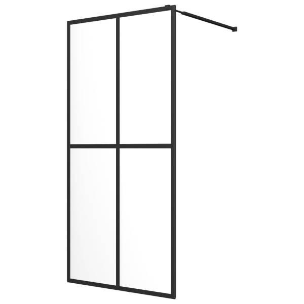 vidaXL Paravan de duș walk-in, sticlă securizată, 118 x 190 cm