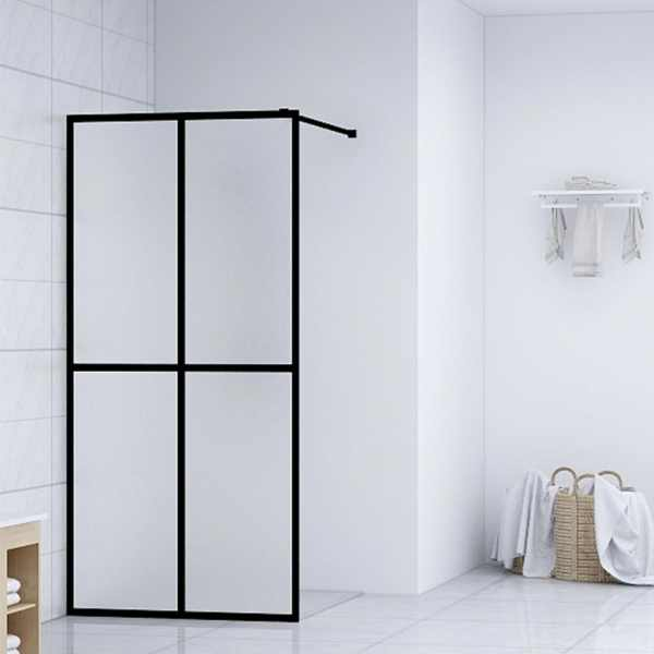 vidaXL Paravan de duș walk-in, 80 x 195 cm, sticlă securizată