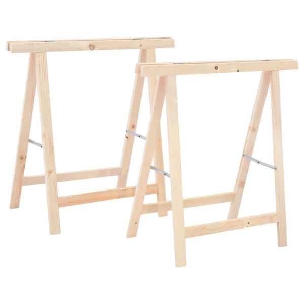 vidaXL Suporturi de fierăstrău pliabile, 2 buc., lemn de pin
