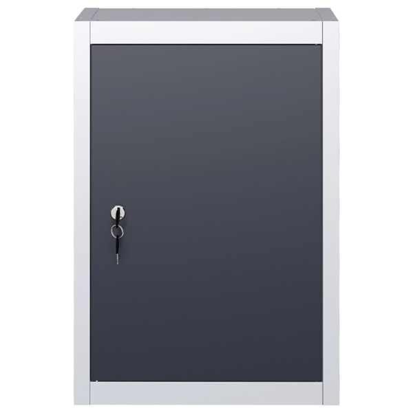 Dulap de scule de perete, gri & negru, metal, stil industrial