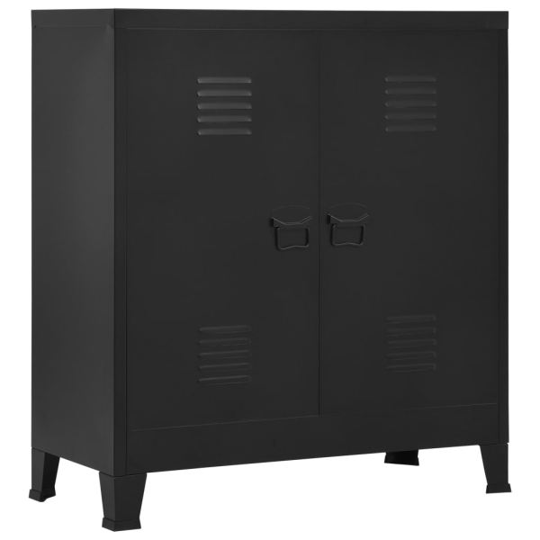 vidaXL Fișet, negru, 90 x 40 x 100 cm, oțel, industrial