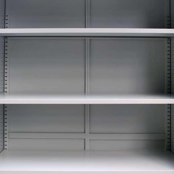 Dulap de birou cu 2 uși, gri, 90 x 40 x 180 cm, oțel