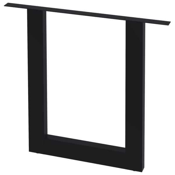 vidaXL Picioare de masă cu cadru în O, 2 buc., 80 x 72 cm