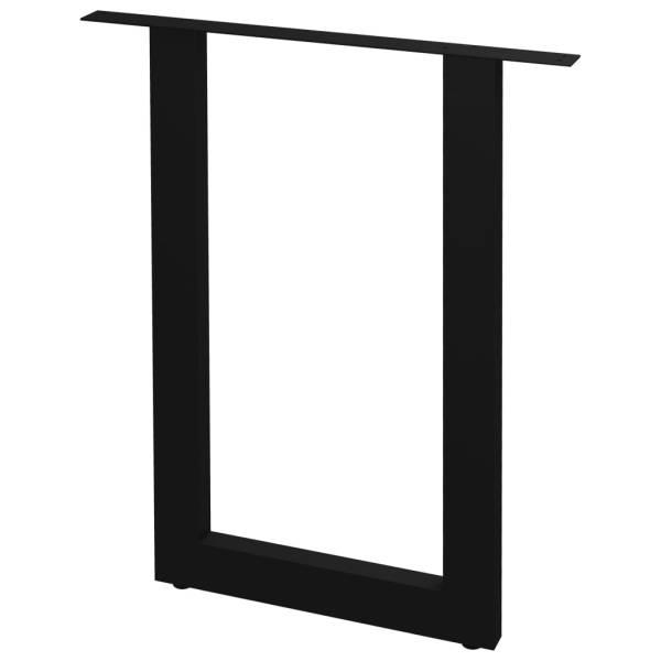 vidaXL Picioare de masă cu cadru în formă de O, 2 buc., 60 x 72 cm
