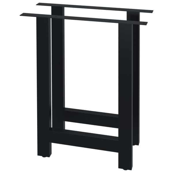 vidaXL Picioare de masă cu cadru în formă de H, 2 buc., 70 x 72 cm