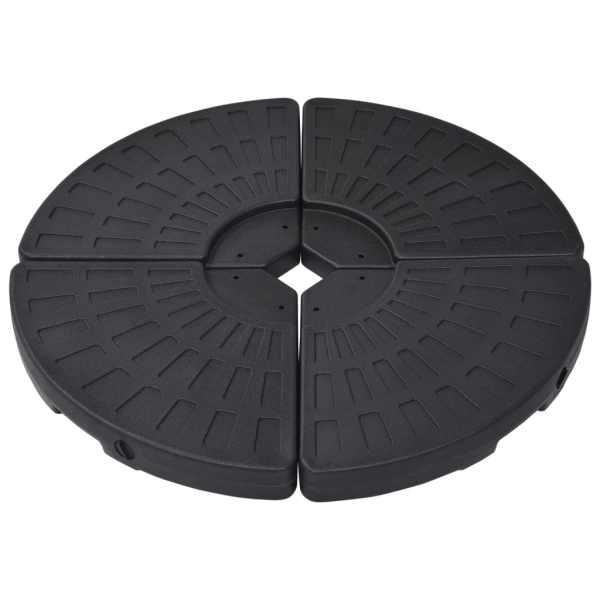 vidaXL Suport de umbrelă în formă de evantai, 4 buc., negru