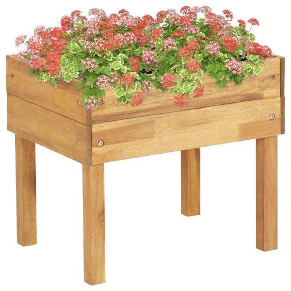 vidaXL Jardinieră înaltă, 50 x 40 x 45 cm, lemn masiv de acacia