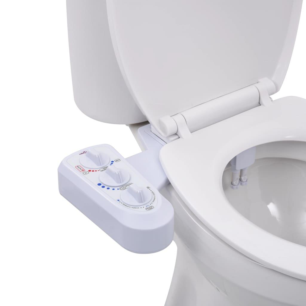 vidaXL Accesoriu bideu pentru scaun toaletă apă rece & caldă două duze