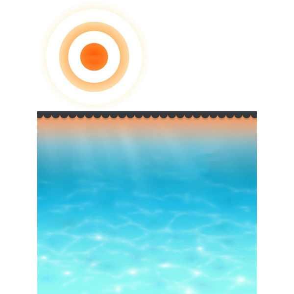 vidaXL Prelată piscină, negru, 210 cm, PE