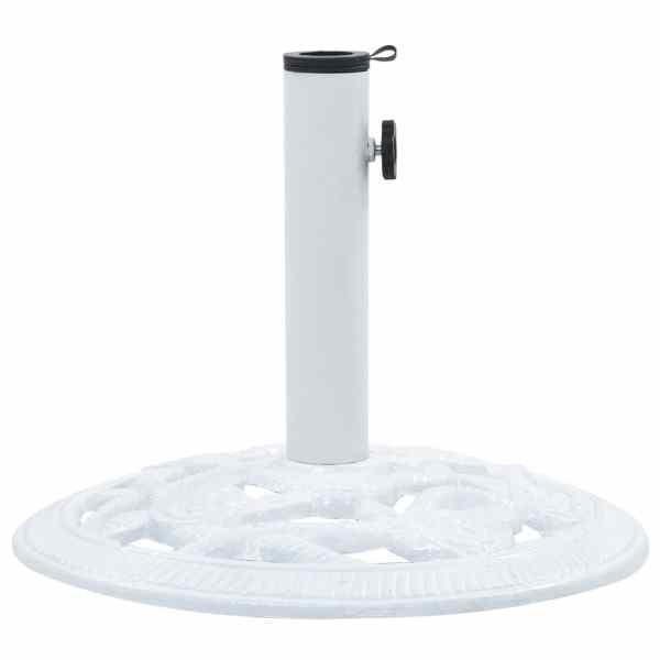 vidaXL Suport de umbrelă, alb, 9 kg, fontă, 40 cm