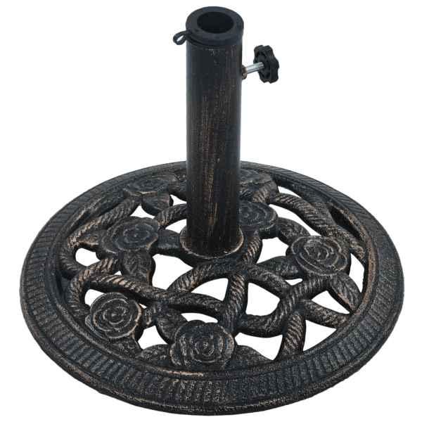 vidaXL Suport de umbrelă, negru și bronz, 9 kg, fontă, 40 cm