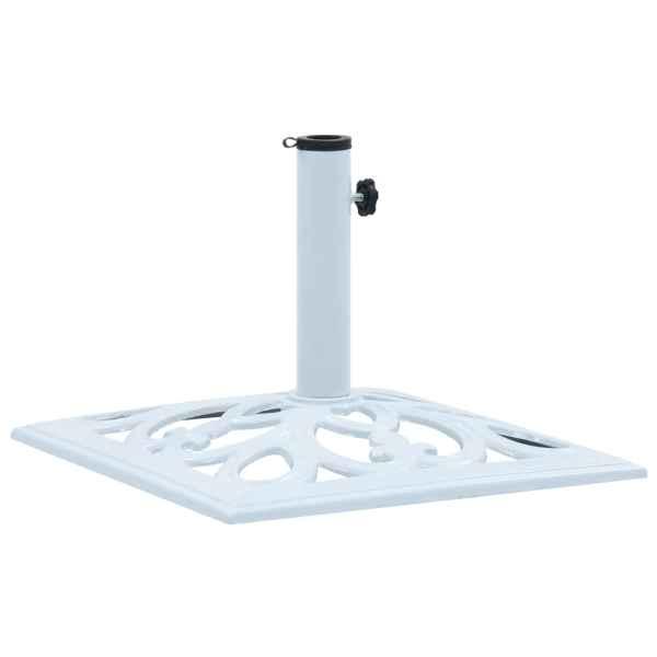 vidaXL Suport de umbrelă, alb, 12 kg, fontă, 49 cm