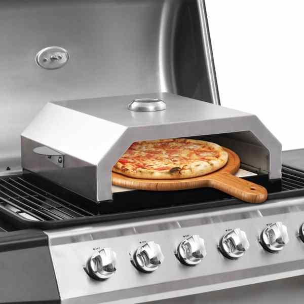 vidaXL Cuptor de pizza cu piatră ceramică pentru grătar gaz, cărbuni
