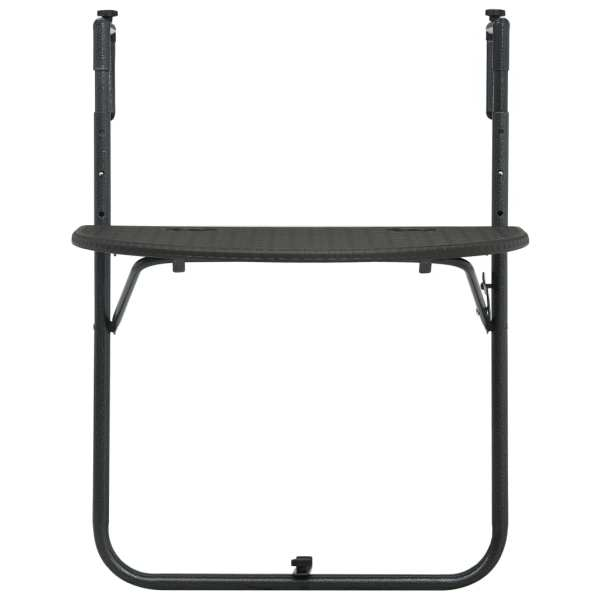 vidaXL Masă balcon suspendată maro 60x64x83,5 cm plastic aspect ratan