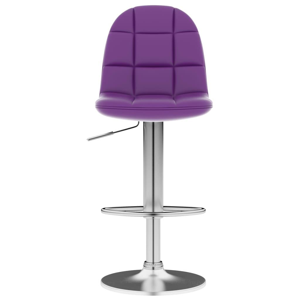 Scaun de bar, violet, piele ecologică