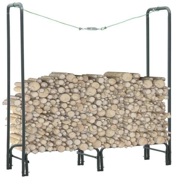 vidaXL Rastel pentru lemne de foc, antracit, 120x35x120 cm, oțel