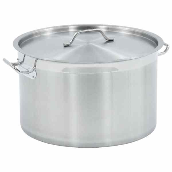 vidaXL Oală de supă, 45 x 28 cm, oțel inoxidabil, 44 L