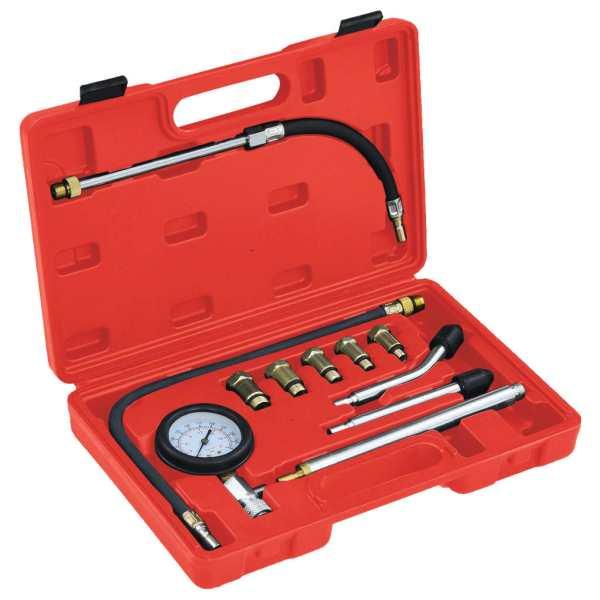 vidaXL Set tester compresie pentru motor pe benzină, 12 piese