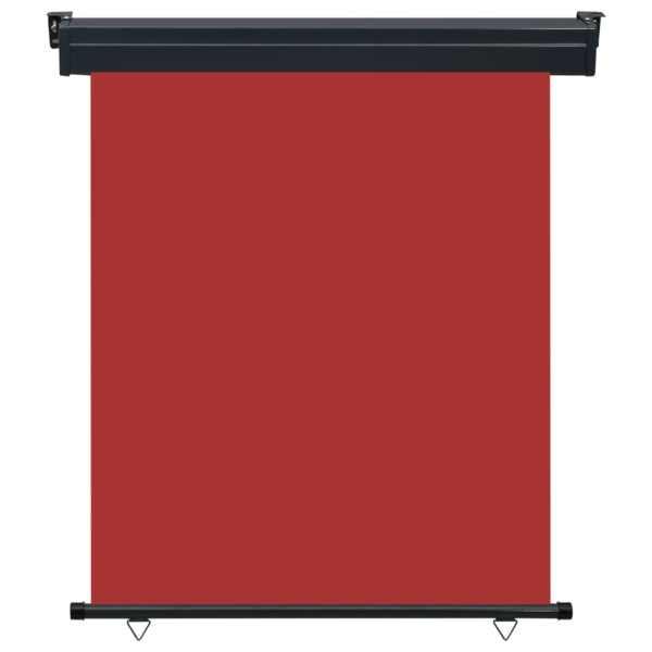 Copertină laterală de balcon, roșu, 140 x 250 cm
