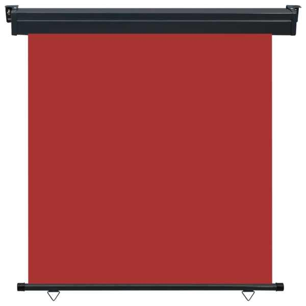 Copertină laterală de balcon, roșu, 160 x 250 cm