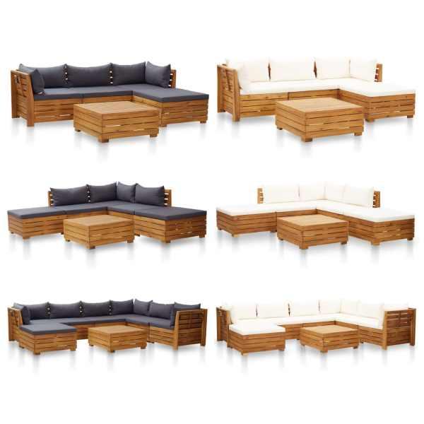 vidaXL Masă modulară, 1 buc., lemn masiv de acacia